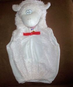 Little Baby Lamb Infant Toddler Animal Costume Mary Sheep w Character Head Bell