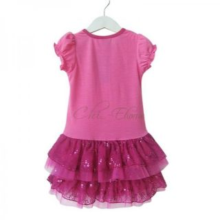 Baby Girls Princess Dora Peppa Pig Ruffle Dress Tutu Party Summer Costume Sz 1 6