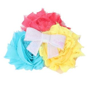Lovely Baby Toddler Girls Soft Headband w Chiffon Different Color Flowers New