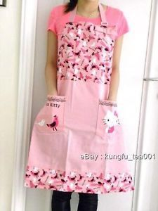 Hello Kitty Bird Pattern Kitchen Apron Cooking Dress