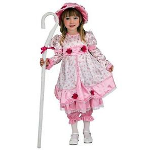 Little Bo Peep Fairy Tale Pink Dress Up Halloween Deluxe Toddler Child Costume