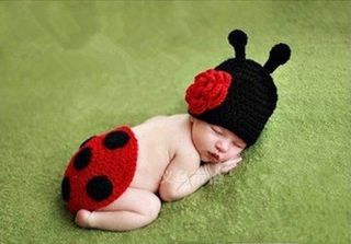 Newborn Baby Girl's Infant Bee Knitted Costume Photo Photography Prop Hats