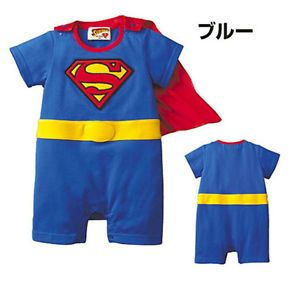 Baby Kid Boy Superman Fancy Dress Party Festival Costume Outfit Bodysuit Clothes
