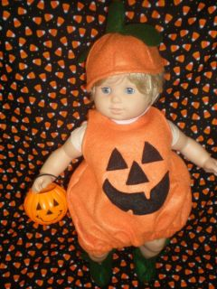 Clothes Bitty Baby Orange Pumpkin Halloween Costume