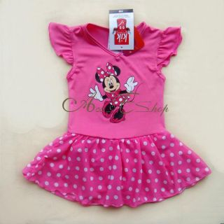 Minnie Mouse Girls Size 3 4 Ballet Dance Costume Dress Polka Dots Tutu Skirt