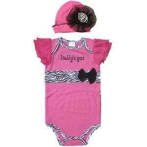 2pcs Newborn Infant Baby Girl Hat Romper Jumpsuit Top Set Clothes Outfit 0 12M