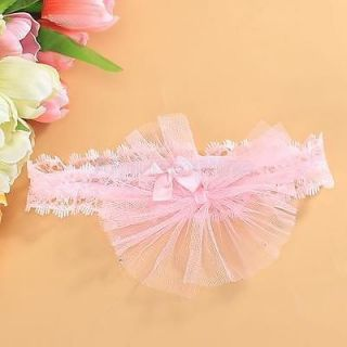 Baby Infant Girl Sweet Gift Lace Headband Hair Bow Pink