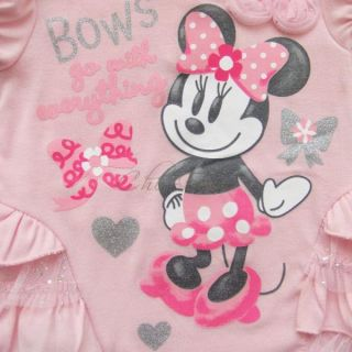 Girl Baby Minnie Mouse Top Dress Pants Leggings Outfits Costume Sz 12 24 Months