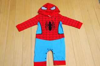 Baby Boy Spiderman Costume Fancy Dress Christmas Halloween Outfit Romper 6 24M