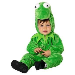 New Disney Muppets Kermit The Frog Infant Baby Toddler Plush Costume 12M