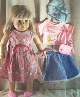 "Doll Clothes Lot 7 Pcs Pink Blue Dress Shoes Fit 18"" inch American Girl New"