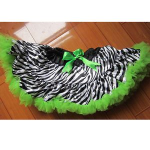Baby Girl Child Zebra Princess Ballet Dance Costume Tutu Dress Skirt New
