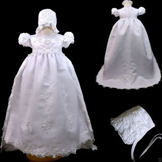 New Baby Girl Toddler Christening Baptism Formal Dress Gown Size 0 30 M White