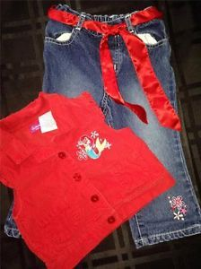 Baby Girl Clothes Disney Kids Little Mermaid Baby Girl Pant Set 2T Jeans