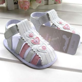 Toddler Baby Girls Princess White Sandals Dance Stripe Shoes Size US 2 X31Z6M