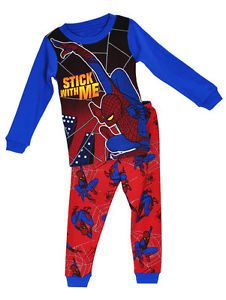 "Baby Toddler Kid's Boy Sleepwear Cute Nightwear Pajama Set ""Spiderman"" 2T"