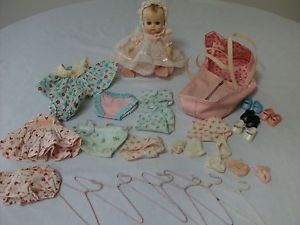 1950 Vogue Ginette Baby Doll Carrier Clothes Shoes Socks Hangers Diapers