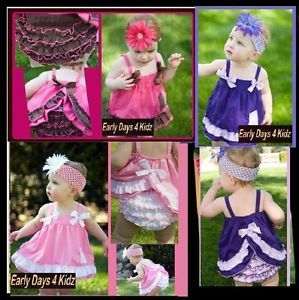 Baby Girls Ruffle Dress Set Sizes 00 0 1 2 Comes with Matching Pants
