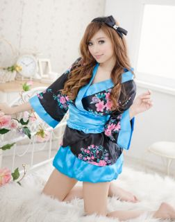 ♥ New Cute Japanese Kimono Party Costume Cosplay Fancy Dress UK Size 8 10 ♥