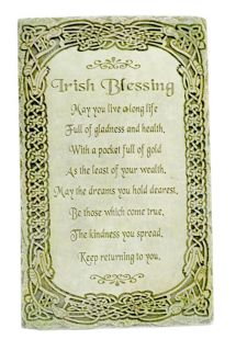 Irish Blessing Wall Plaque May You Live A Long Life Home Celtic Decor