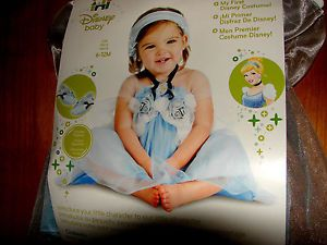 New Disney Princess Cinderella Dress Halloween Costume Baby Girl Size 6 12 M