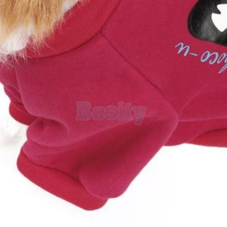 Pet Dog Puppy Autumn Coat Pullover Shirt Sports Jersey Costume Clothes Apparel L