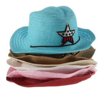 Cute Baby Kids Children Boys Girls Straw Western Cowboy Sun Hat Cap Costume Gift