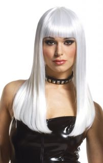 Womens Sexy Mistress Platinum Blonde Costume Wig