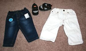 New Baby Boy Clothes 6 Months 2 Pairs of Jeans and Running Shoes