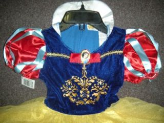 NWT Disney Classics Snow White Halloween Costume Toddler Youth Girls Large 4 6X