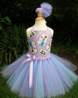 Princess Tiana Tutu Dress Pageant Birthday Costume Disney Princess Frog