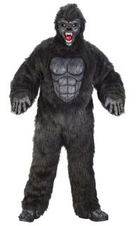 Gorilla Suit Adult Plus Mens Costume Ape Monkey Animal Jungle Party Halloween