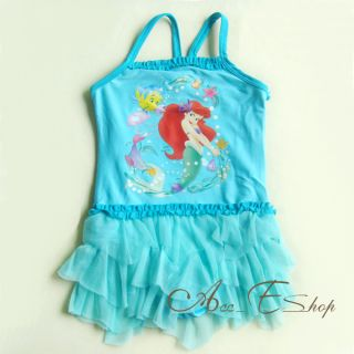 Girls Baby Ariel Mermaid Tutu Swimsuit Bathing Tankini Swim Costume 12M 2T 3T 4T