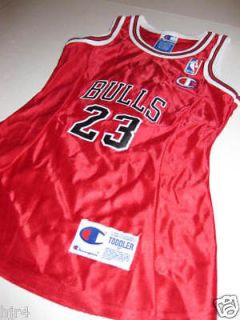 Michael Jordan 23 Chicago Bulls Champion Toddler Jersey Dress 3T New