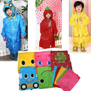 Several Color Cute Boy Girl Baby Kid Children Cartoon Raincoat Rain Coat Cover