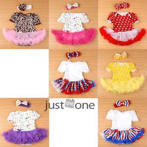 Cute Lovely Baby Toddler Infant Girl 1 Piece Ruffles Tutu Romper Jumpsuit Dress