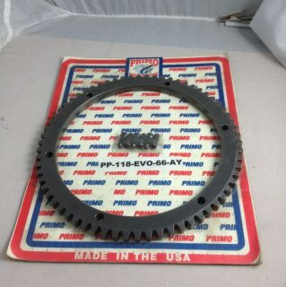 Primo Starter Ring Gear 90 93 Harley Indian Chief Belt Drive Only 66T Heavy Duty