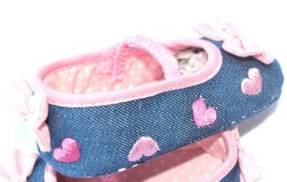 Pink Blue Mary Jane Toddler Baby Girl Shoes Size 2 3 4