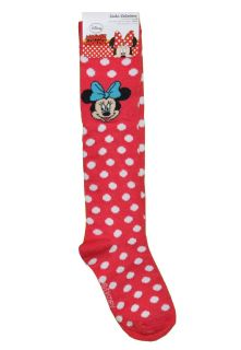 Disney Knee High Minnie Mouse Red Polka Dots Socks Size 6 8 Shoe Size 4 10 5