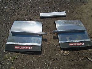 Semi Truck Chrome Fenders with Kenworth Mud Flaps