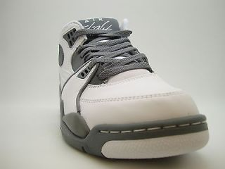 [306252 109] Mens Nike Air Flight 89 White Crimson Clay Grey Black