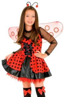 Kids Child Halloween Costume Cute Ladybug Dress Outfit