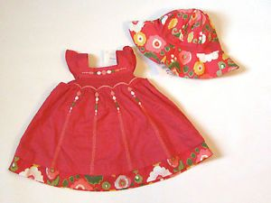 Baby Gymboree Girls 0 3 Months Bohemian Jewel Pink Dress Hat Set Clothes Lot