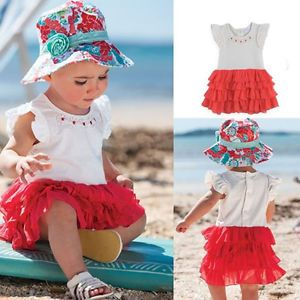 1pc Baby Girl Kid Infant Toddler Layered Dress Tutu Ruffle Clothes Outfit 12 24M