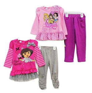 Girls Baby Clothing Top Dress Pants Legging Outfit 1 4Y Toddler Set Long Sleeve