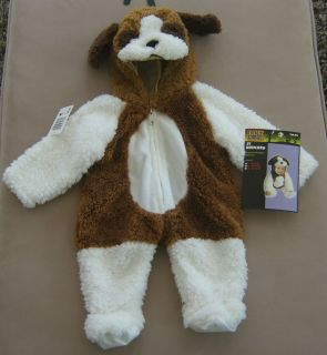 St Bernard Halloween Costume Dog Puppy Plush Infant Child Hood Jumpsuit 6 12 MO
