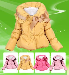Baby Girls Toddler Clothes Kids Candy Color Winter Warm Jacket Clothing Snowsuit
