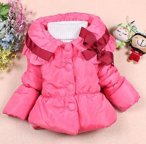 New Baby Girls Toddler Outwear Clothes Kids Winter Jacket Coat Snowsuit 1 5Year