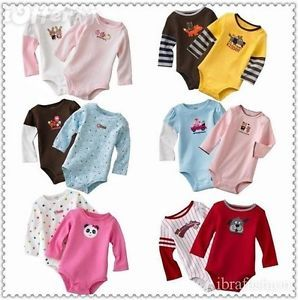 Baby Clothes Long Sleeve Rompers Bodysuit Toddler Jumpsuits 3 6 9 12 Girls Boys