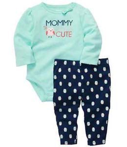 NWT Carters Baby Girl Clothes 2 Piece Set Teal Blue Owl 3 6 9 12 18 24 Months